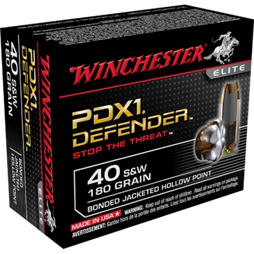 Winchester Elite PDX1 Defender 40 Smith & Wesson 180 GR.