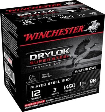"Winchester DryLok Super Steel HV 12ga 3"" BB-Shot"