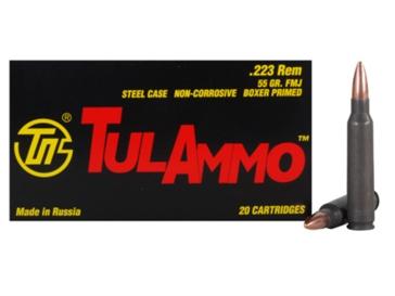 TulAmmo Centerfire Rifle Cartridges .223 Rem 55 GR FMJ 20RD