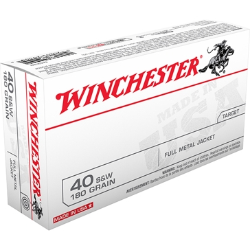 Winchester Target 40 Smith & Wesson 180 GR. Full Metal Jacket