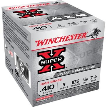 """Winchester Super-X High Brass Game Loads .410ga 3"""" 7-1/2-Shot"""
