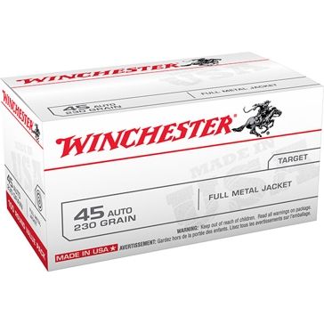 Winchester USA 45 Automatic 230 GR FMJ 100RD
