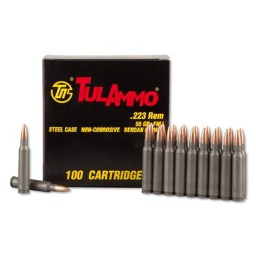 TulAmmo Centerfire Rifle Cartridges .223 Rem 55 GR FMJ 100RD
