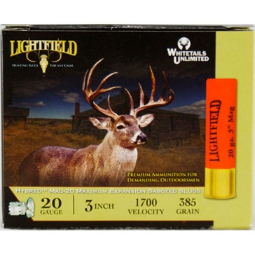 Lightfield Hybred MAG-20 Saboted Slugs 20ga 3""
