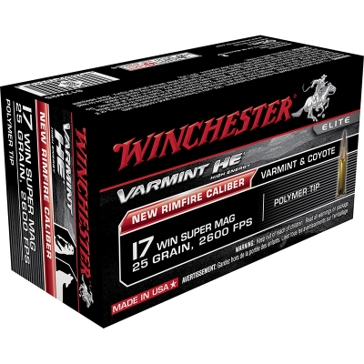 Winchester Varmint HE 17 Win Super Mag 25 GR. Poly Tip