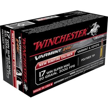 Winchester Varmint HV 17 Winchester Super Mag 20 GR Poly Tip