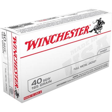 Winchester USA 40 Smith & Wesson 165 GR FMJ 50RD