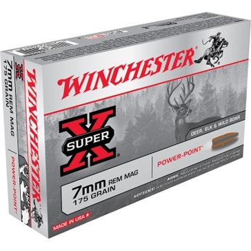 Winchester Super-X 7mm Remington Mag 175 GR Power-Point