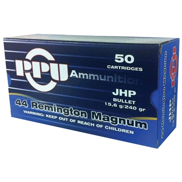 Prvi Partizan 44 Remington Magnum 240 GR JHP 50RD