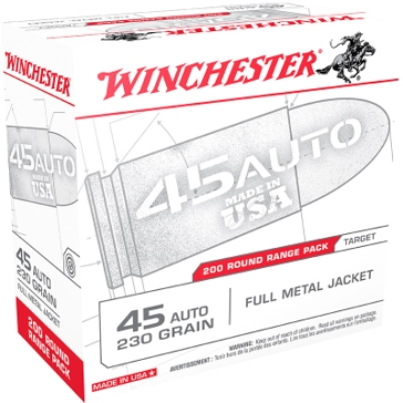 Winchester USA 45 Automatic 230 GR FMJ 200RD