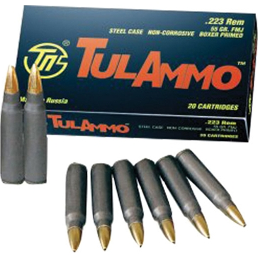TulAmmo Centerfire Rifle Cartridges .223 Rem 55 GR HP 100RD