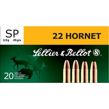 Sellier & Bellot  22 Hornet 45 GR SP 20RD