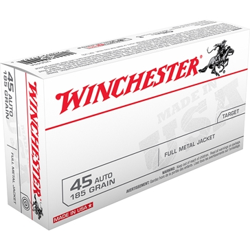 Winchester USA 45 Automatic 185 GR FMJ 50RD