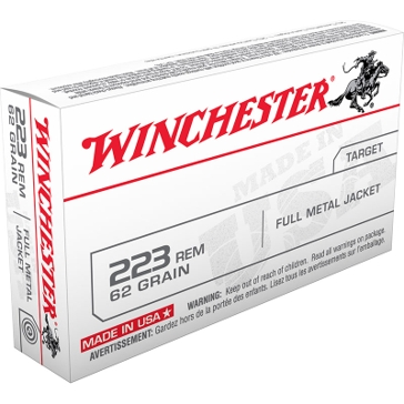 Winchester USA .223 Remington 62 GR FMJ