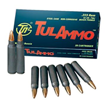 TulAmmo Centerfire Rifle Cartridges .223 Rem 62 GR FMJ 20RD