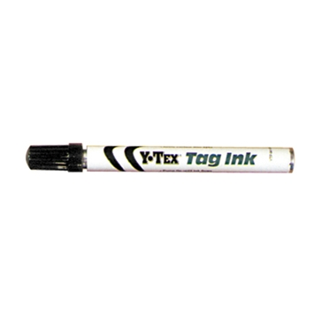 Y-Tex 612000 Ink Ball Tip Marker, Broad, Fine Lead/Tip, Black
