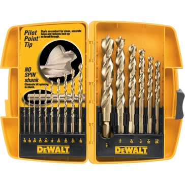 Dewalt 16 Pc. Pilot Point Drill Bit Set DW1956