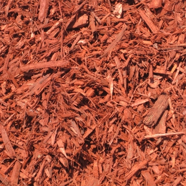 Pine Mulch Radiant Red Color