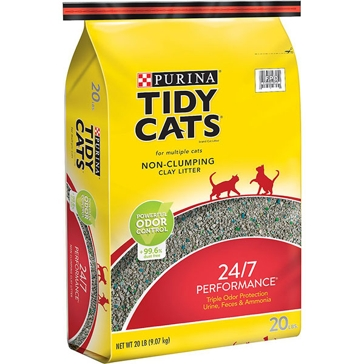 Tidy Cats 24/7 Performance NON-Clumping Cat Litter 20lb