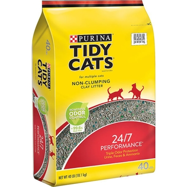 Tidy Cats Non-Clumping 24/7 Performance Cat Litter 40lb
