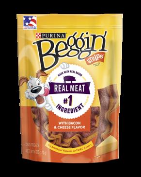 Purina Beggin' Strips Bacon & Cheese Flavor - 25oz