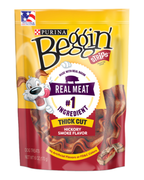 Purina Beggin' Strips Thick Cut Hickory Smoked Bacon Dog Treats - 25oz