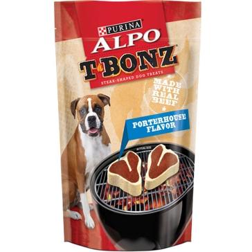 Purina Alpo T-bonz Porterhouse Steak Shaped Dog Treats 45oz