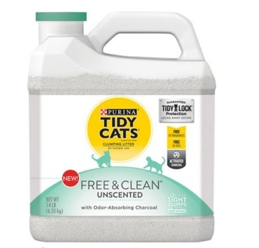 Tidy Cats Free & Clean Unscented Clumping Cat Litter 20#