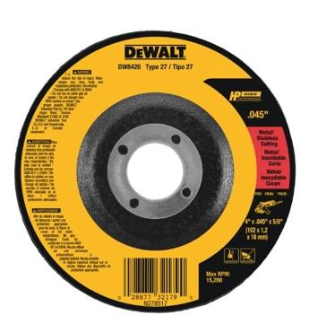 """Dewalt 4-1/2"""" x .045"""" x 7/8"""" Metal Cutting Wheel DW8424"""