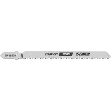 """Dewalt 4"""" 10 TPI T-Shank Fine Cut Smooth Finish Wood Cutting Jig Saw Blade (5 Pack) DW3760H"""