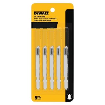 "Dewalt 3"" 24 TPI T-Shank Metal Cutting Cobalt Steel Jig Saw Blade (5 Pack) DW3776-5"