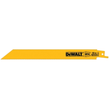 "Dewalt 8"" 18 TPI Straight Back Bi-Metal Reciprocating Blade (5 pack) DW4821"