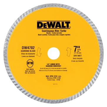 "Dewalt 7"" XP turbo diamond blade DW4702"