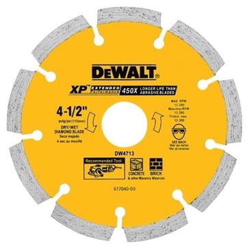 "Dewalt 4-1/2"" XP segmented diamond blade DW4713"
