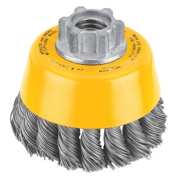 """Dewalt 4"""" x 5/8""""-11 HP .020 Carbon Knot Wire Cup Brush DW4916"""