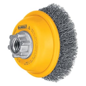 """Dewalt 3"""" x 5/8""""-11 HP .014 Carbon Crimp Wire Cup Brush DW4920"""