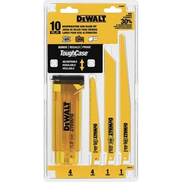 DeWalt DW4898 Bi-Metal Reciprocating Saw Blade 10 Piece Set