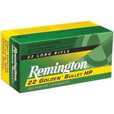 Remington 22 Golden Bullet 22LR Short High Velocity 29 GR 50RD