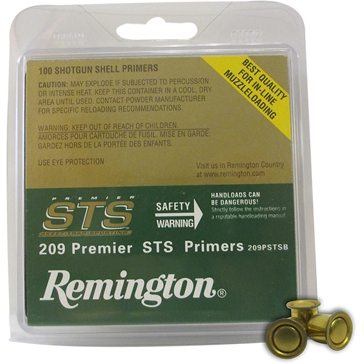 Remington 209 Premier STS Shotgun Shell Primers 100CT