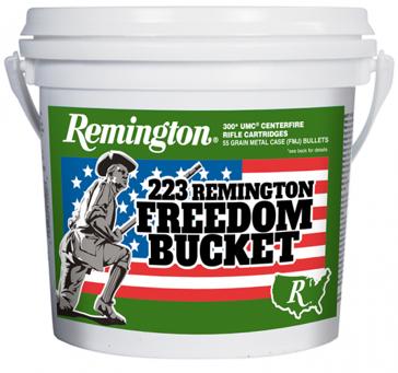 Remington UMC Ammunition 223 Remington 55 Grain Full Metal Jacket 300 Round Bucket