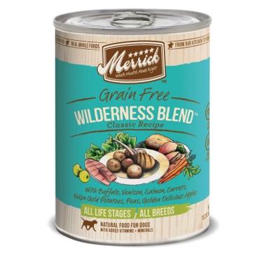 Merrick Grain Free Wilderness Blend Classic Recipe Wet Dog Food 12.7oz