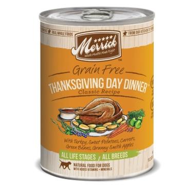 Merrick Grain Free Thanksgiving Day Dinner Classic Recipe Wet Dog Food 13oz