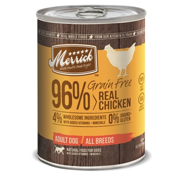 Merrick Grain Free 96% Real Chicken Wet Dog Food 12.7oz