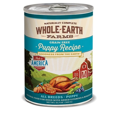 Whole Earth Farms Grain Free Puppy Recipe Wet Dog Food 12.7oz