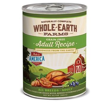 Whole Earth Farms Grain Free Adult Recipe Wet Dog Food 12.7oz