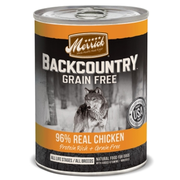 Merrick Backcountry 96% Real Chicken Wet Dog Food 12.7oz