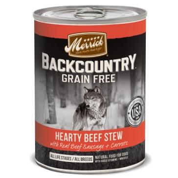 Merrick Backcountry Hearty Beef Stew Wet Dog Food 12.7oz