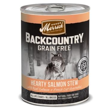 Merrick Backcountry Hearty Salmon Stew Wet Dog Food 12.7oz