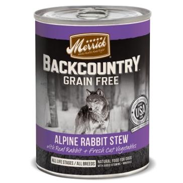 Merrick Backcountry Alpine Rabbit Stew Wet Dog Food 12.7oz