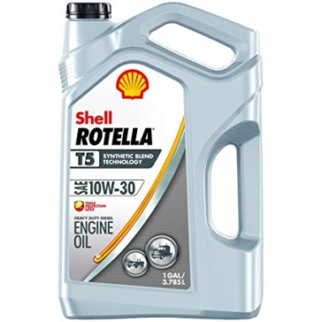 Shell Rotella T5 10W-30 Synthetic Blend Diesel Engine Oil 1 Gallon 550045130